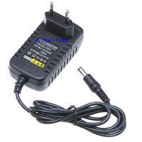 100 шт. DC 12 В 2A конвертер Импульсные блоки питания Зарядное устройство для Светодиодные ленты ЕС США Plug AC 100 240 В оптовая продажа