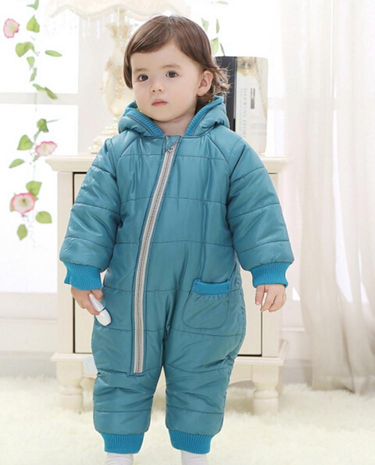 9-24Months Baby Winter Clothes Girl Boy Romper Warm Russian Baby Winter Jumpsuit Skiing Outerwear Clothing Colorful Snowsuit (1)