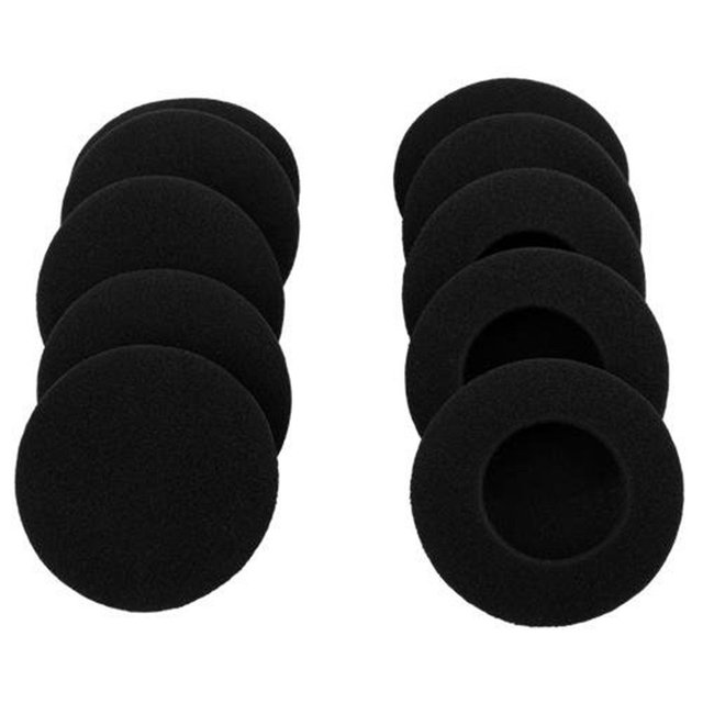 """10 Pairs 60mm/2.4"""" Replacement Foam Earpads Cushion For Logitech H600 H330 H340/Aiwa HP CN5/Labtec Axis 502 headset Black"""