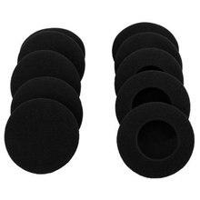 """10 Pairs 60mm/2.4 """"yedek köpük kulak yastıkları yastık Logitech H600 H330 H340/Aiwa HP CN5/labtec eksen 502 kulaklık siyah"""