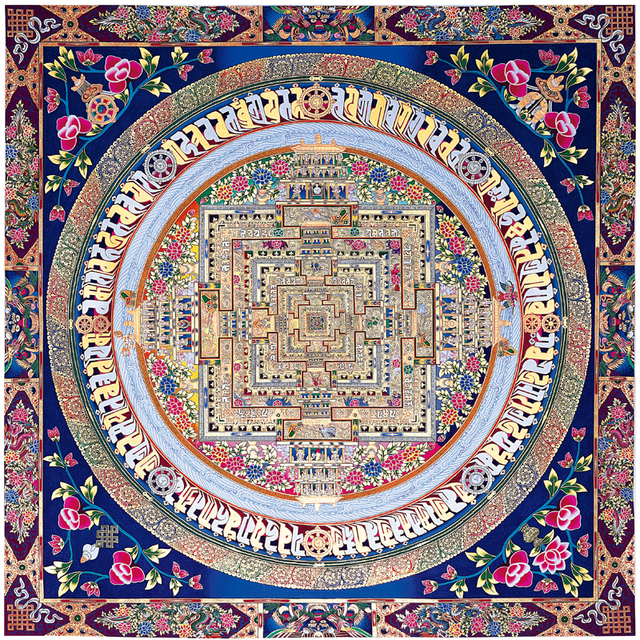 Tibetan Buddhist Culture Painting Art Picture Print Thangka Oil Canvas Design Poster Frame Not Include