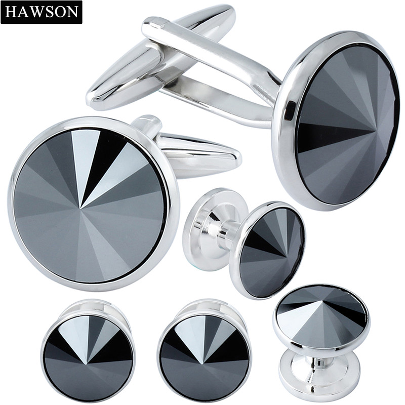 Mens Fashion Tuxedo Studs Cufflinks Formal Constume Shirt Cuff Link Studs 6pcs/ Set