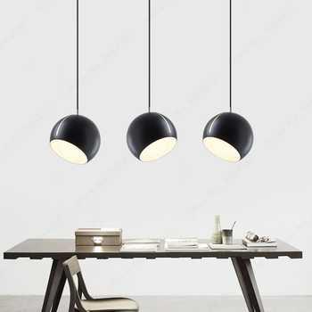 BDBQBL Hemisphere Pendant Lights Postmodernism Northern Europe LED Pendant Lamp AC 90-260V Bedroom Parlor Study Hanglamp
