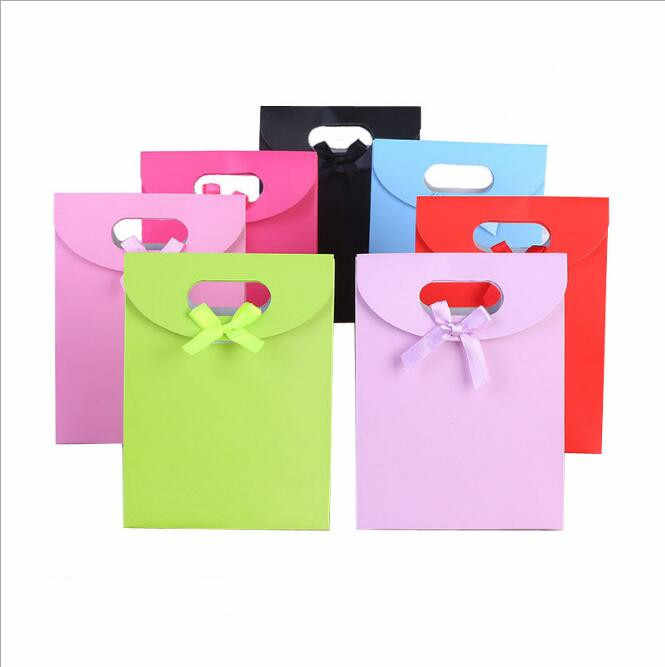 10 teile/los Geschenk Papier Tasche Weihnachten Valentinstag Vorhanden Taschen Geschenk Taschen Mit Griffen Weihnachten Hochzeit Party Dekoration