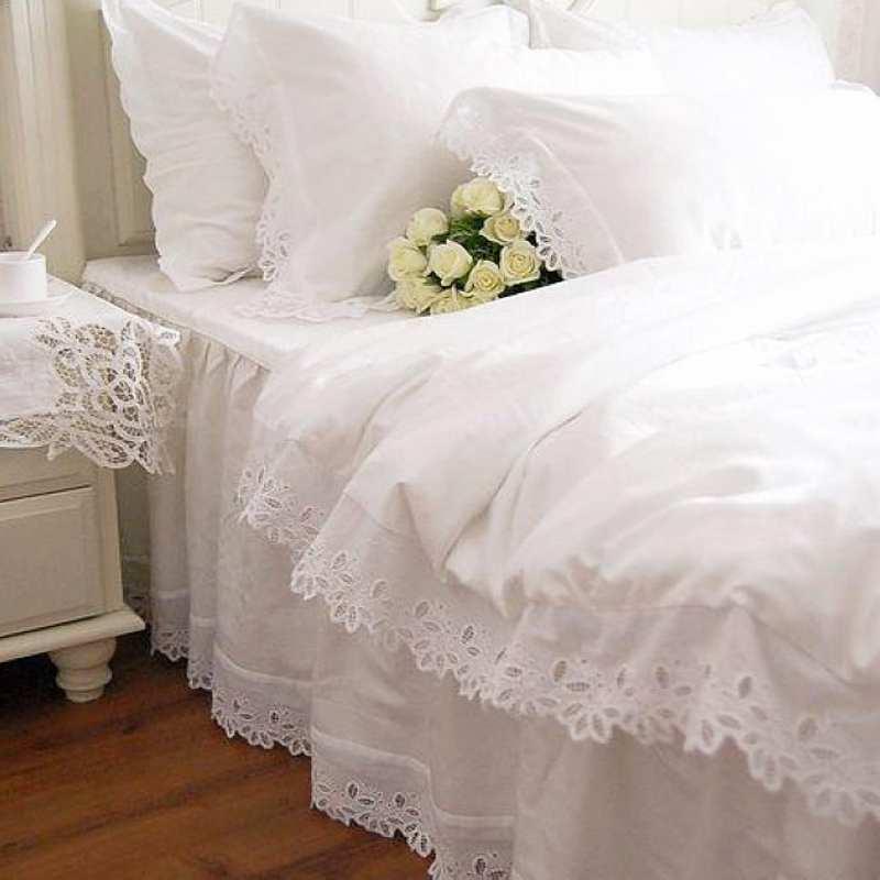 Online Get Cheap White Ruffle Comforter Aliexpress Com