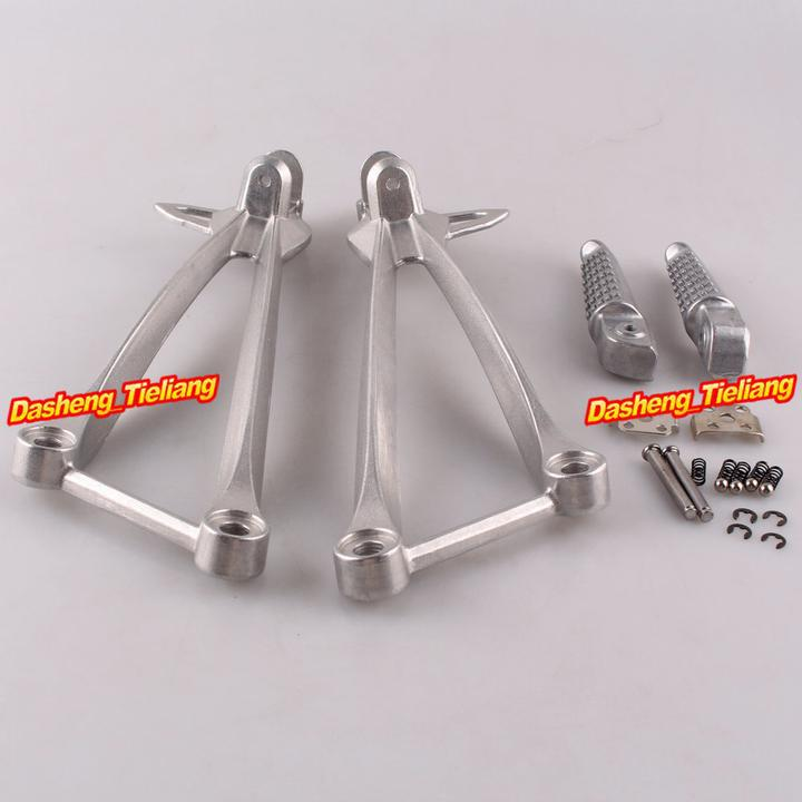Aluminum Alloy Passenger Rear Foot Pegs Footrest Brackets for KAWASAKI ZX6R 09 11 ZX10R 08 10