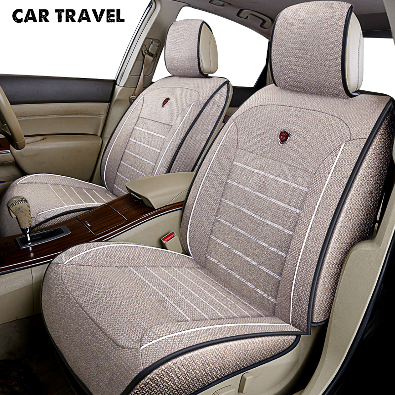 цена CAR TRAVEL flax car seat cover for seat altea ateca cordoba leon alhambra leon 2 toledo leon fr auto accessories car-styling
