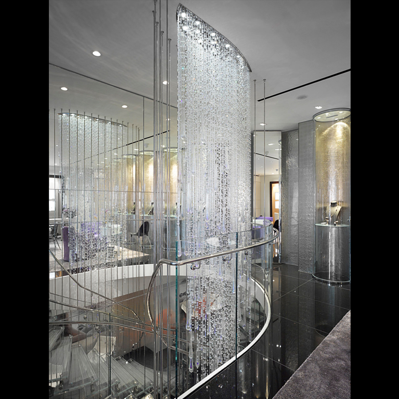 Lighting Basement Washroom Stairs: Customize Contemporary Waterfall Chandelier For Staircase