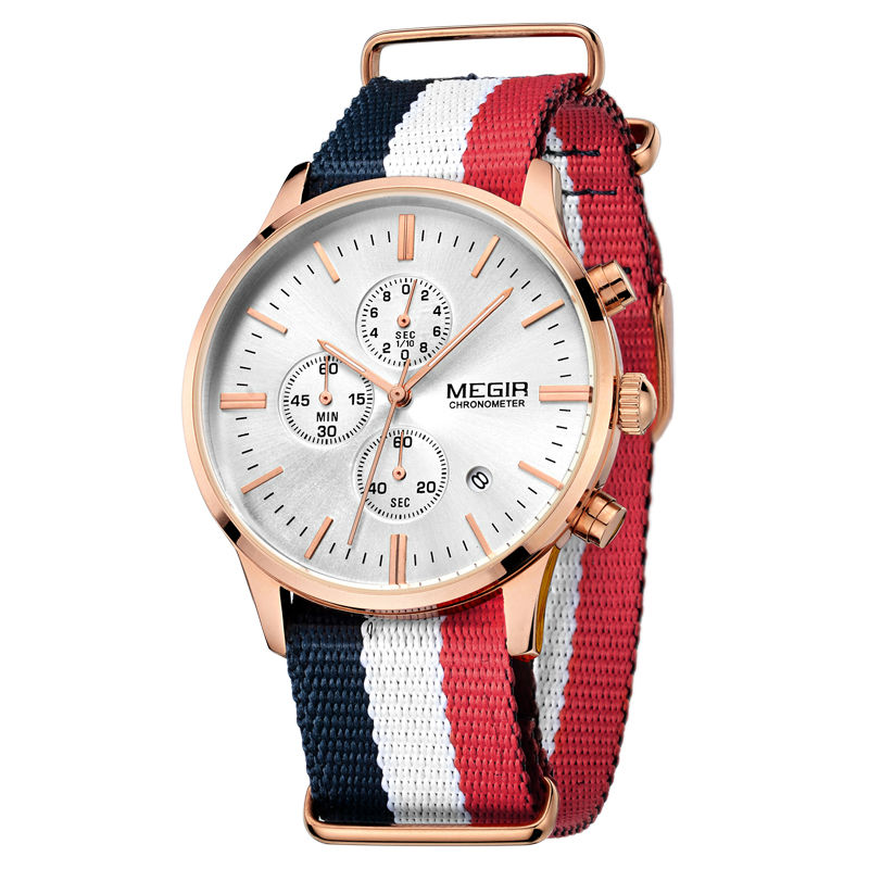 designer mens watches promotion shop for promotional designer mens megir men s watch chronograph date quartz casual sport watches men wristwatch top brand luxury relogio masculino