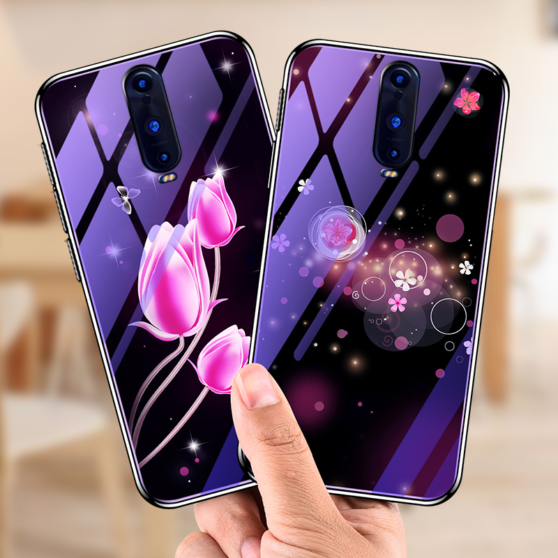 For <font><b>OPPO</b></font> <font><b>F11</b></font> <font><b>Pro</b></font> Case Soft Silicone edge+ Hard Tempered glass bluelight Protective Back Cover case For <font><b>oppo</b></font> f11pro <font><b>phone</b></font> shell image