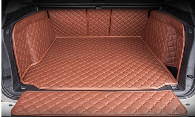 Good! Special trunk mats & rear door mat for BMW X5 F15 2017-2013 waterproof boot carpets cargo liner for X5 2016,Free shipping накладки на пороги bmw x5 iii f15 2013 carbon