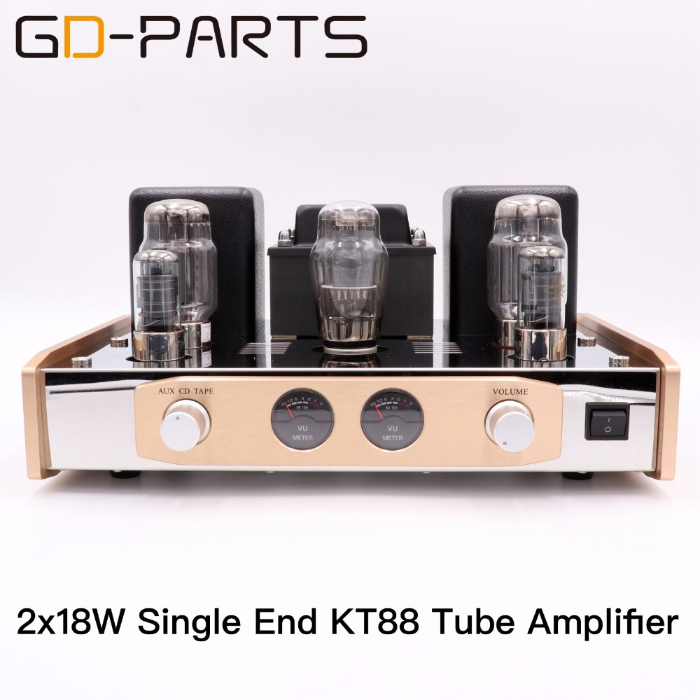 Single End KT88 Vacuum Tube Amplifier Stereo Class A Hifi Audio Vintage Tube Integrated AMP 18W Hand Wired PSVANE KT88 Tubes tube mm phono stage amplifier board pcba ear834 circuit vinyl lp amp no including 12ax7 tubes riaa hifi audio diy free shipping