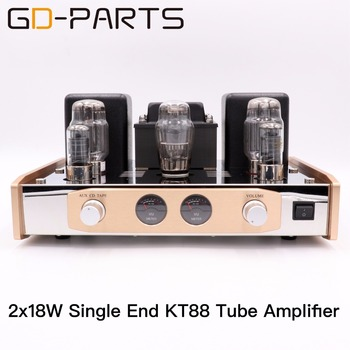 Single End KT88 Vacuum Tube Amplifier Stereo Class A Hifi Audio Vintage Tube Integrated AMP 18W Hand Wired PSVANE KT88 Tubes