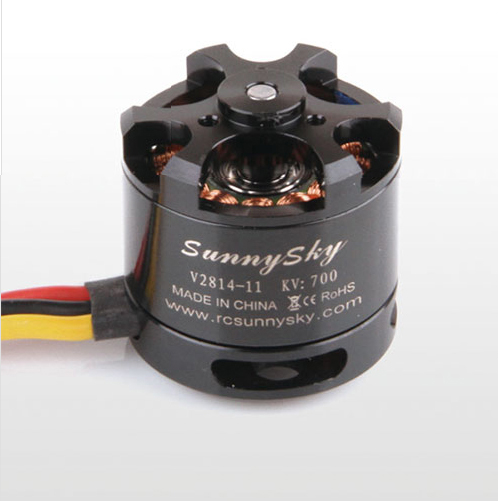 Original Sunnysky V2814 700KV 2-4S Brushless Motor for Multicopter Quadcopter RC Airplane