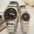 Os amantes do casal relógios relógio dos homens marca GUNQIN 2 pçs/set mulheres relógio de quartzo calendário semana da correia de aço clássico à prova d ' água GL-01