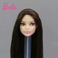 For Original Barbie One Pcs Doll Head Accessories Limited Collection Fashion Hair Supermodel Mondrian Gift DIY Toys for Children