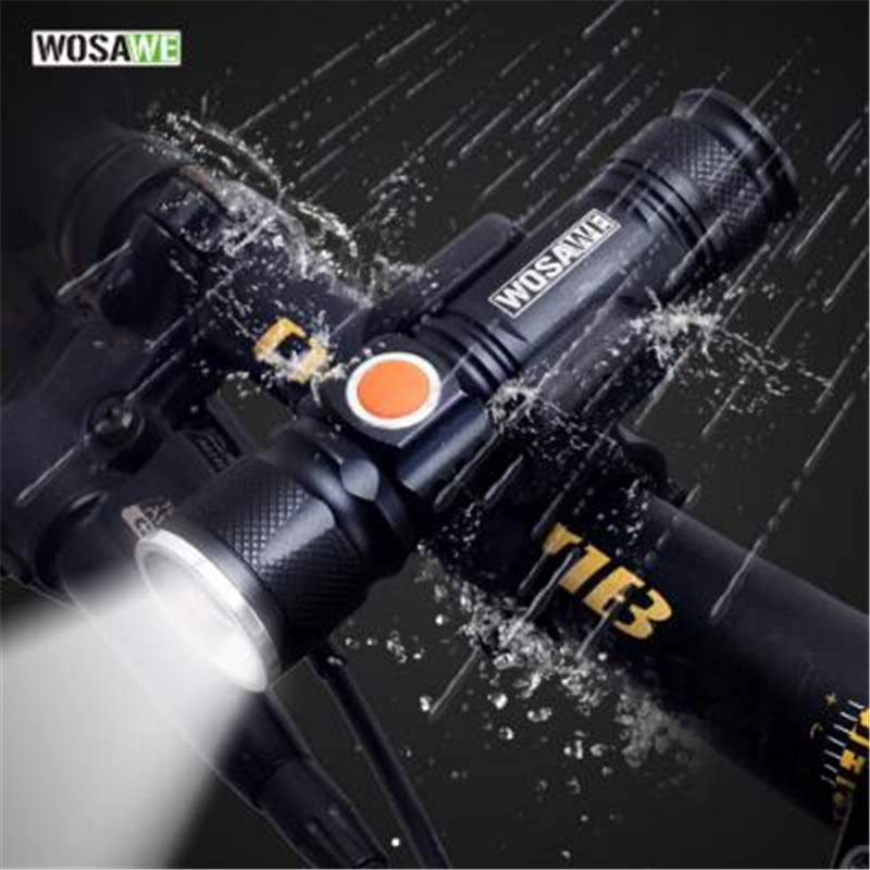 USB Rechargeable Bicycle Flashlight LED 800 Lumen Bike Light Zoom Waterproof ultra bright Flash light 18650 Battery