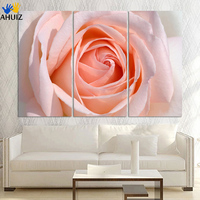 3 Panel Rose flower wall paintings Modern wall canvas art decor flower poster picture print living room Direct factory price!