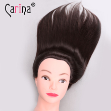 Mannequin Head Hair 20 Salon Training Maniqui Hairdressing Doll Heads Hairdresser Brown Makeup with Adjustable Clamp