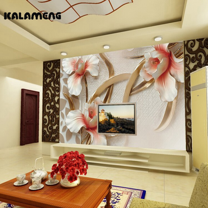 Aliexpress.com : Buy KALAMENG Custom 3D Wallpaper Design Embossed ...
