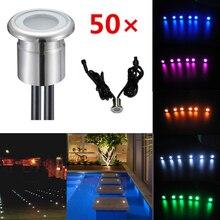 0.8W Round IP67 DC12V Boden LED Floor Lamps Lighting Underground Lights Set of 50(WW,CW R,G,B,Y)