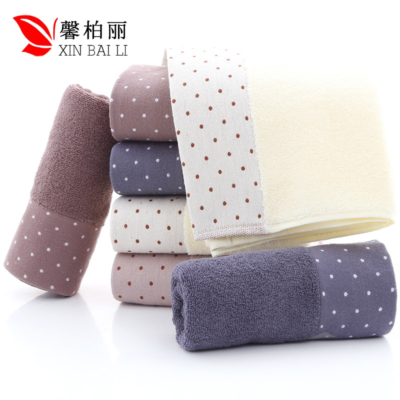 Image 2 - Quality, environmental  health, pure cotton, simple pure color towel, thickened washcloth, gift towel, customized LOGO wholesale-in Storage Bags from Home & Garden