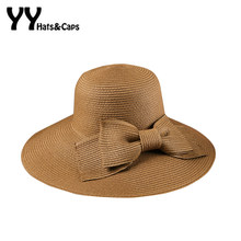 0ba02656356cd Woman New Solid Panama Bohemian Straw Sunhats Fashion Summer Hat Sun Floppy  Beach Wide Large Brim Cap Hats UV For Women YY60163