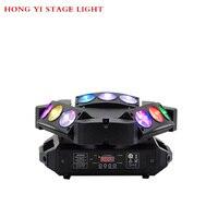 9 перемещение головы RGBW Цвет 10 Вт * 9 Треугольники паук перемещение головного света лазера DJ