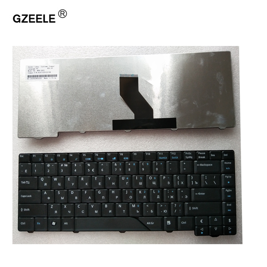 GZEELE Russian Keyboard For Acer Aspire 4710Z 4712 4712G 4290 4720 4720G 5530 MS2219 4310 4320 4315 Z03 MS2220 5710 5312 5920 RU