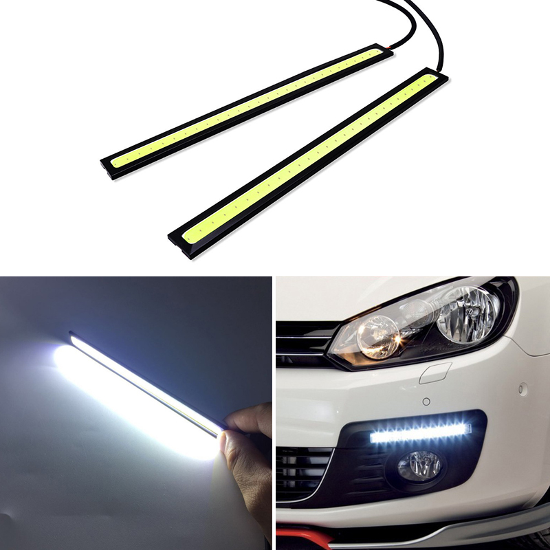 2x Car Daytime Running Lights COB LED DRL Lamp For Toyota Corolla Yaris Avensis Rav4 Camry Auris Hilux Chr Prius Verso Ae86 Vitz image