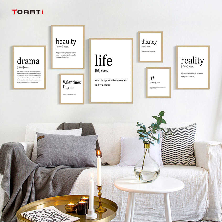 Minimalist Life Quotes Poster&Prints Modern Canvas Painting Nordic Art Pictures wall picture living room art murals Home Decor