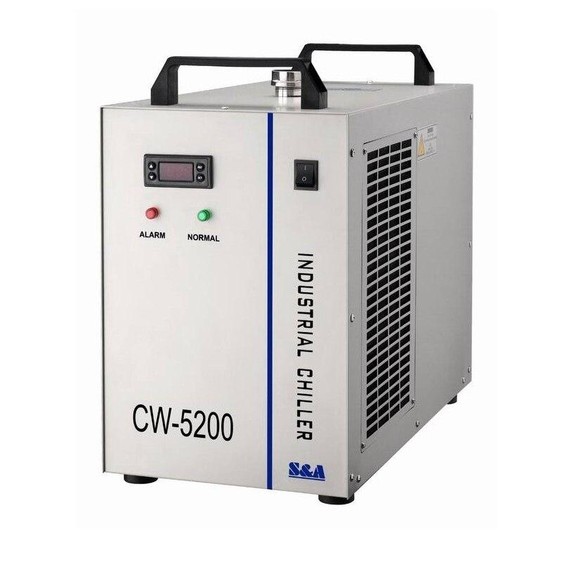 Russia tassa di trasporto di Acqua chiller CW 5200AH Refrigeratore parti di macchine cnc Per CNC Mandrino di Raffreddamento Tubo Del Laser 130 w 150 w