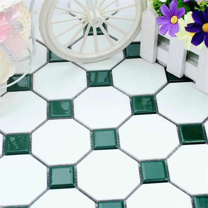 glossy green matt white ceramic mosaic bathroom kitchen washroom anti slip floor tile wall tile exterior decoration tile