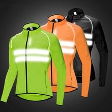 Cycling Jacket Men Women Windproof Waterproof Coat MTB Bike Long Sleeve Reflective Jerseys Breathable Outdoor Sportswear autumn hooded cycling jacket windproof cycling cloth jersey long sleeve coat breathable men road mountain bike jacket