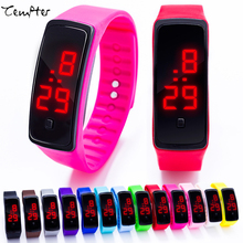 Hot Sale New Ultra Thin Men Girl women Fashion Watches Silicone ElectronicDigital LED Sports Wrist Watch water resistant TEMPTER