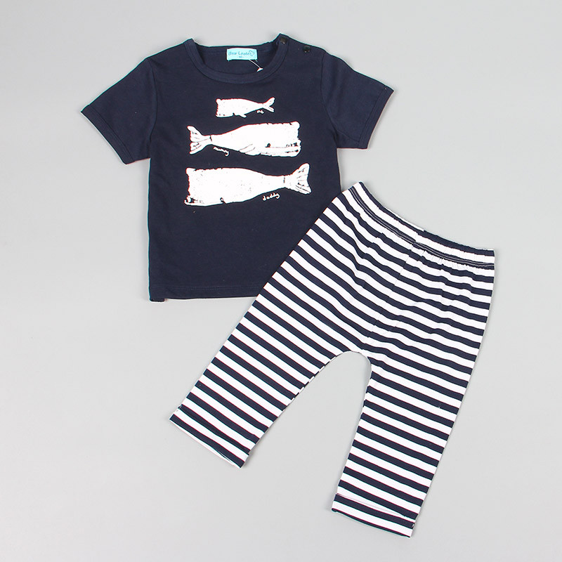 Keelorn-2017-Summer-Style-Infant-Clothes-Baby-Clothing-Sets-Three-small-fish-model-Cotton-Short-Sleeve-2pcs-Baby-Boy-Clothes-2