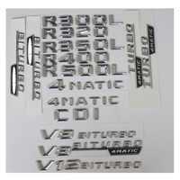 Cromo maletero cartas insignia emblema emblemas etiqueta para Mercedes Benz R300 R320 R350 R400 R500 V8 BITURBO AMG 4 MATIC