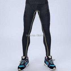 الرجال ضغط رياضية السراويل التخسيس tigts طويلة سراويل محدد شكل الجسم سراويل سريعة الجافة brethable MA05
