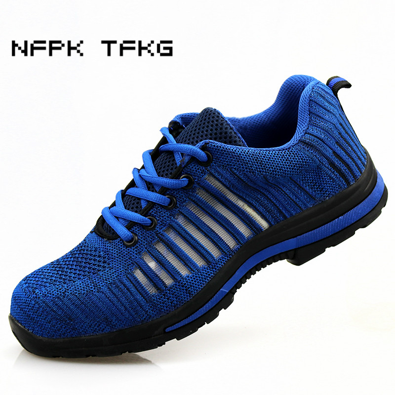 big size men casual comfort steel toe covers working safety shoes construction site worker dresses security low boots protection