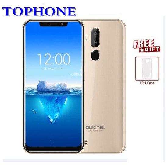 D'origine Oukitel C12 Pro 4g LTE Téléphone Portable MT6739 D'android De Noyau de Quadruple 8.1 téléphone portable 6.18 HD 2 gb RAM 16 gb ROM 8MP OTA Smartphone
