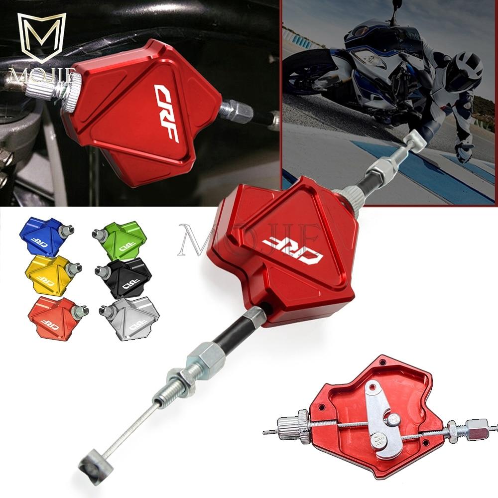 Motocicleta CNC aluminio embrague palanca sistema de cable de tracción fácil para HONDA CRF 150 230 250 450 1000 R RX X F L M Rallye L Adecuado para la modificación del coche 92-00 Kit de buje de transmisión de poliuretano rojo