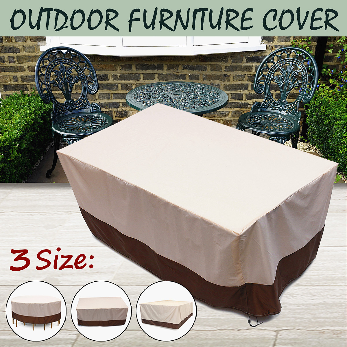 Household Merchandises 3 Shape Heavy Waterproof Chair Dust Rain Cover For Garden Outdoor Patio Furniture