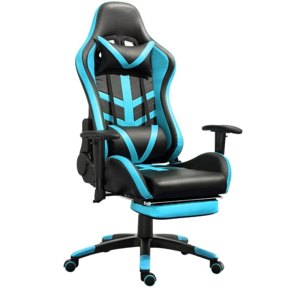 Samincom Office Chair Adjustable Blue Black Seat Area:21.2*21.2,Backrest 20.8*31 PU Leather Lift Swivel Gaming ChairSamincom Office Chair Adjustable Blue Black Seat Area:21.2*21.2,Backrest 20.8*31 PU Leather Lift Swivel Gaming Chair