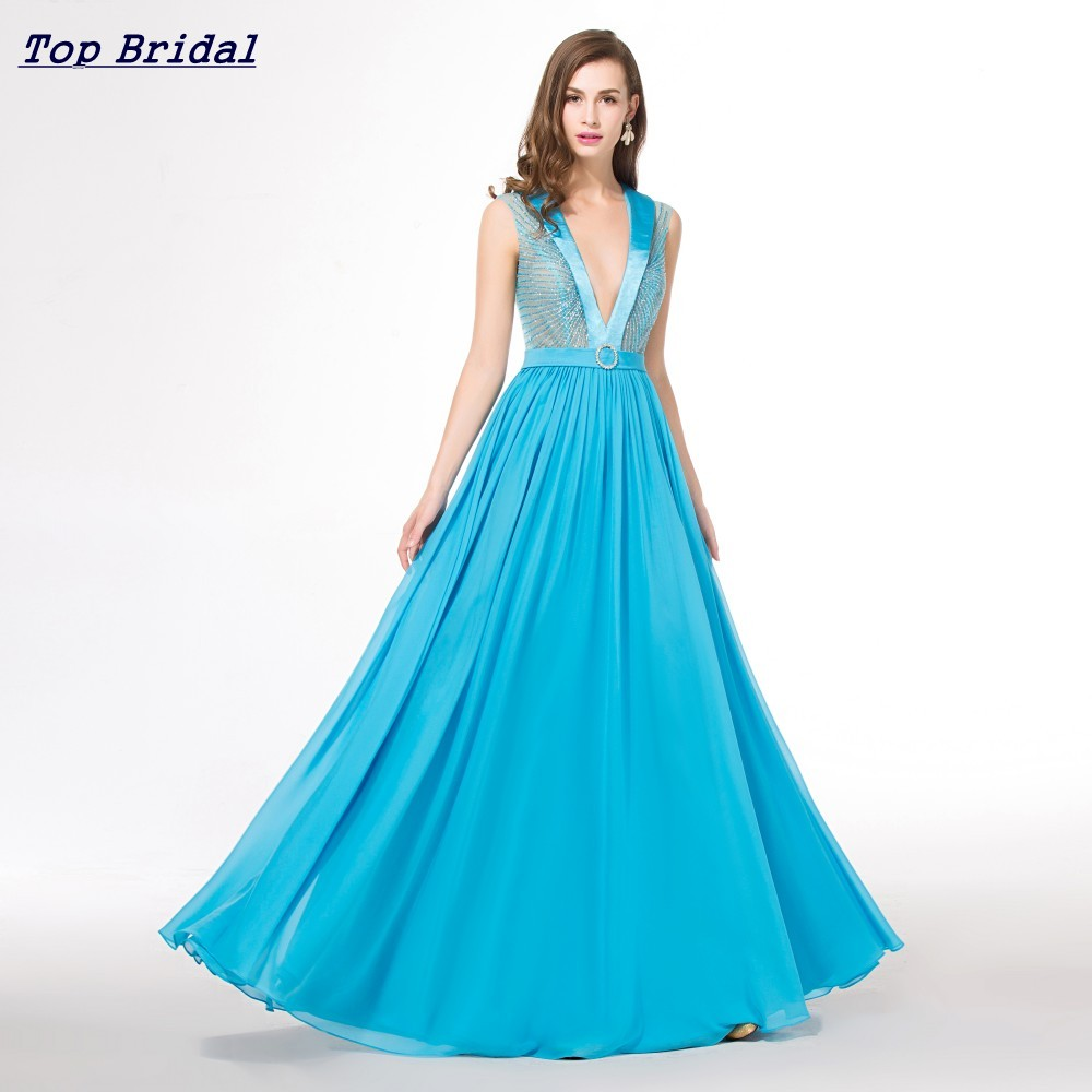 Discount Couture Dresses: Aliexpress.com : Buy Light Blue Long Cheap Elegant Prom