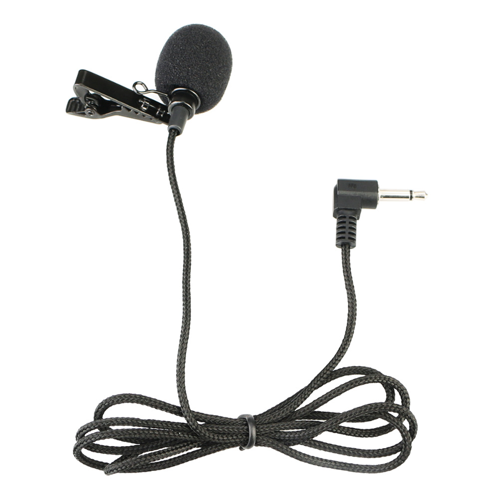 RETEKESS Portable Clip-on Lapel Microphone 3.5mm Jack Hands-free Wired Microphone For Tour Guide System F4511B