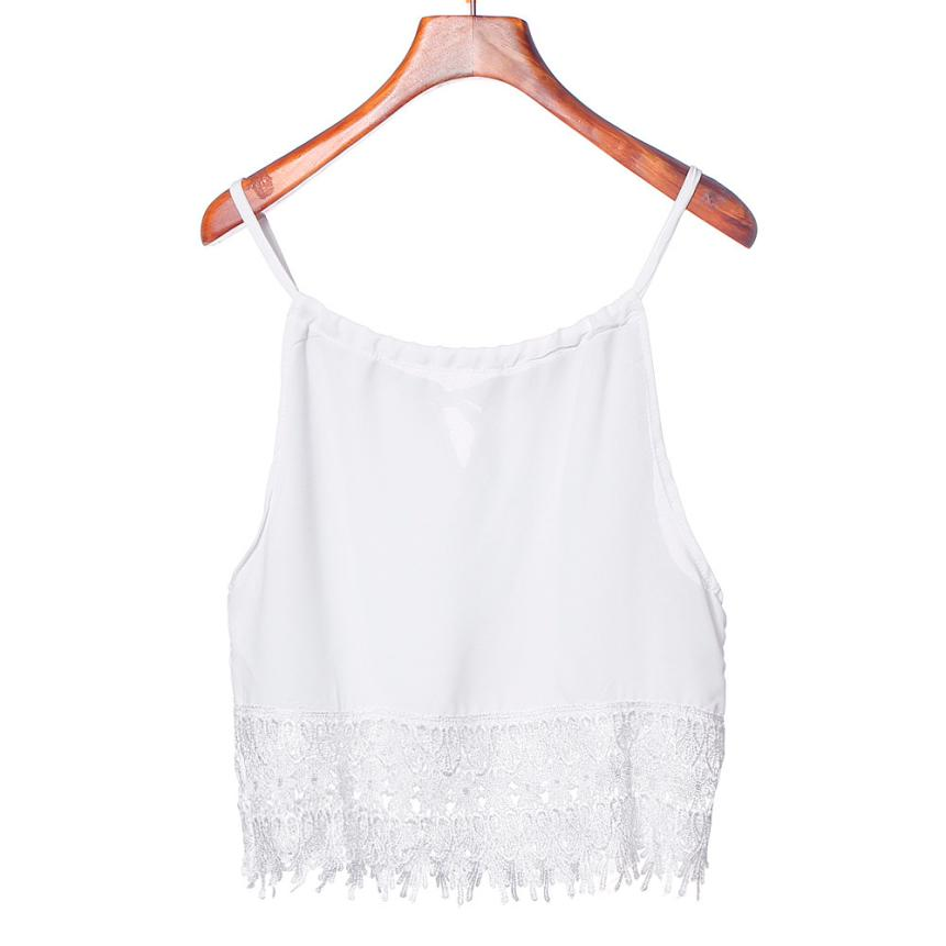 Fashion camisoles for women 2018 Women Girl Lace Tops Short Sleeve Blouse Tank Tops Tee lace top caraco dentelle femme A20