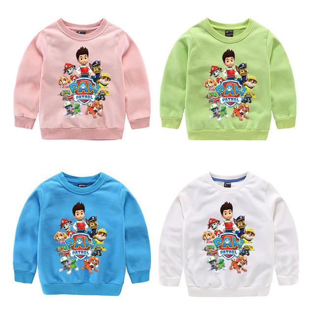 Camisolas hoodies meninas meninos roupas roupa dos miúdos dos desenhos animados tops casual estilo Mais cor 1 pcs para 3-9 T