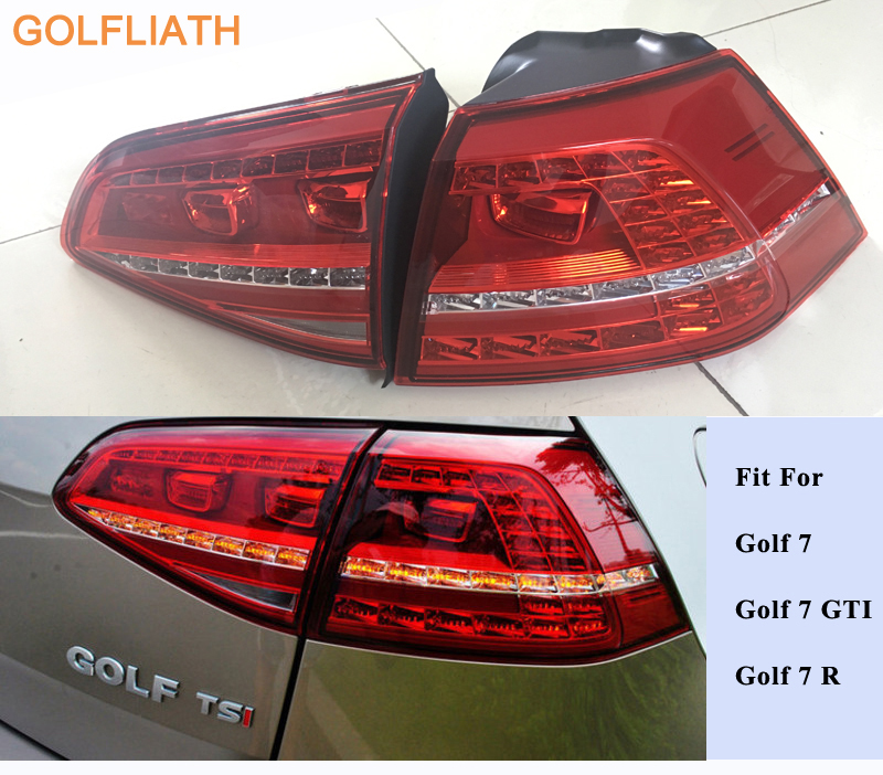 GOLFLIATH Golf MK7 GTI 7 Flowing Light Rear Lamp sets LED TAIL LIGHTS Shooting Star Styling style fit VW Golf GTI R
