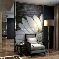Настенные фрески стеклянная мозаика фреска Белый подсолнечника уникальный для дома стены ручной работы