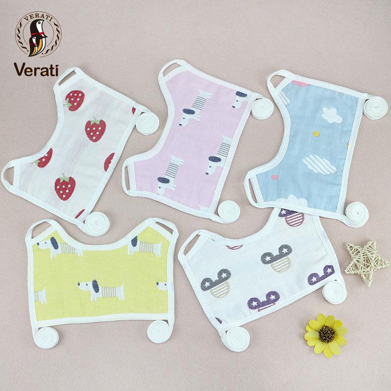 Square 6 Layer Gauze Waterproof Washcloths Kids Towels Burp Clothes Baby Bibs